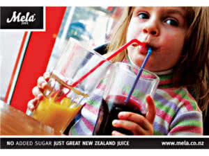 Mela Juice Identity Design and Campaign