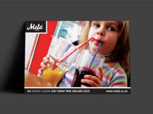 Mela Juice Brand and Advertising