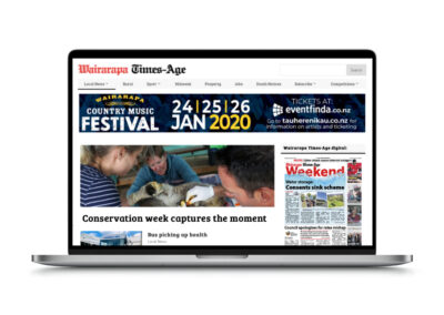 Wairarapa Times Age Website Design and Build